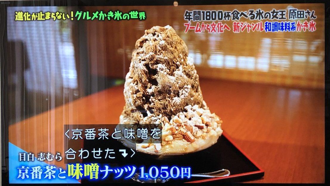 京番茶と味噌ナッツ1050円(東京豊島区)