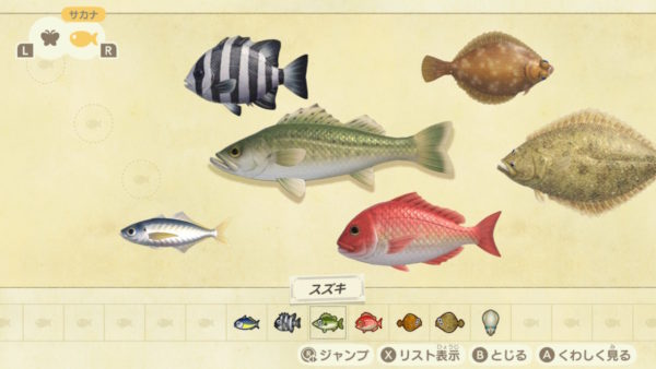 魚図鑑表示